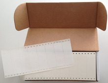 "Dot Matrix Printer Address Labels, Pinfeed Labels Fanfold Permanent Adhesive, 4 1/4"" x 2 15/16"", White, 5,000 per Box"