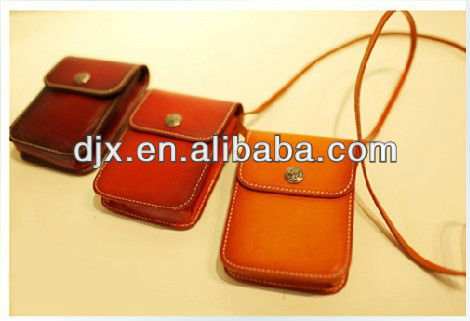 Granny- chic Geniuine Leather Material Cellphone String Bag, card bags