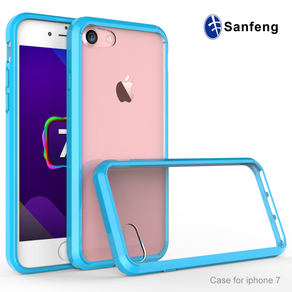 Mobile phone accessories tpu back cover case for iphone 7 transparent case