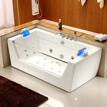 A054 2 person jetted bathtubs jacuzzy function glass double whirlpool bathtub