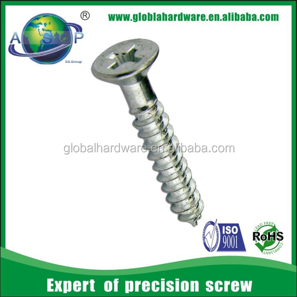 anodized aluminum phillips flat head m4 self tapping screws