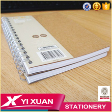 2017 wholesale cheap custom printed bulk double spiral paper notebook with logo
