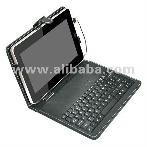 "PU Leather Portfolio Case with Mini USB Keyboard for 8"" Tablet PC"