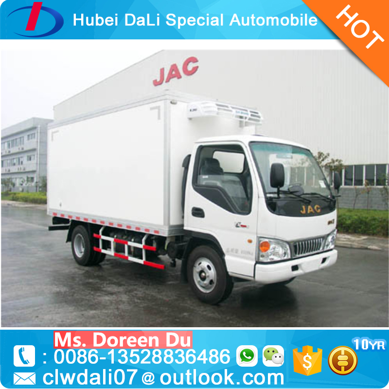1 to 5 tons medical waste truck refrigerator box truck popular food truck for sale