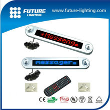 CE&ROHS approval 12V 7*40 car window led moving display