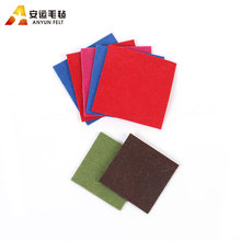factory wholesale needle punched 100% wool color felt fabric