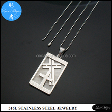 Cheap stainless steel cross pendants with religious jewelry wholesale MJYP-124