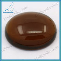 Cabochon glass wholesaler semi precious brown stones for making bracelets