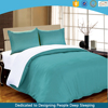 cheap microfiber solid color bed sheet set with reversible duvet cover from China 10years factory