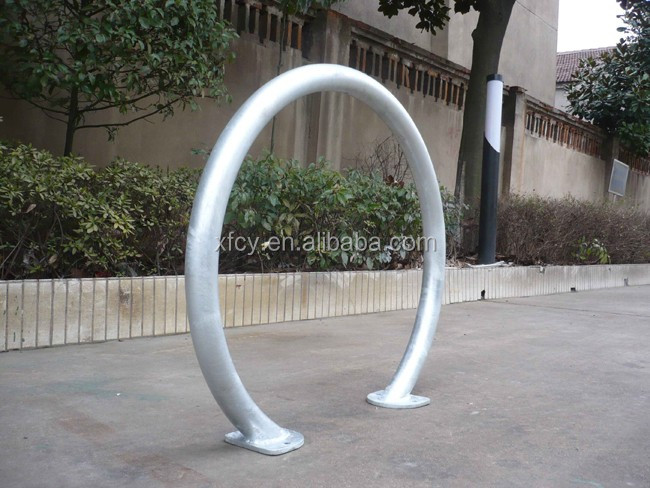 Bike rack commercial grade inverted u galvanized finish
