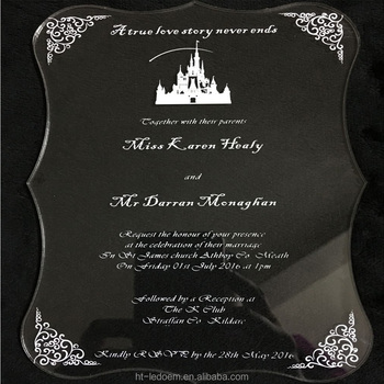 Wedding invitation card luxury 5*7inch 3mm thickness scroll shape printing letters(1lot=100pcs)