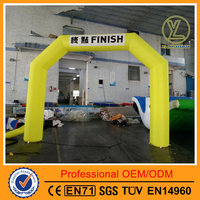 2016 Hot yellow start line inflatable arch/Inflatable arches with logo