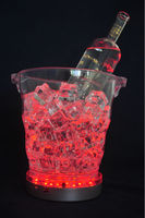 Multi color- changing USB led light for round bar plastic led wine ice bucket