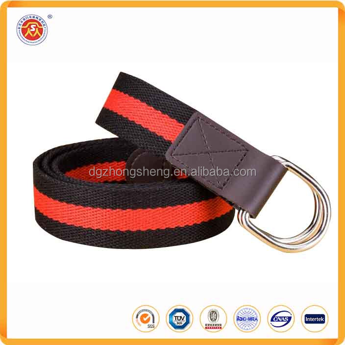 Wholesale canvas custom printing manufacturer belt Stripe unsex woven canvas belt