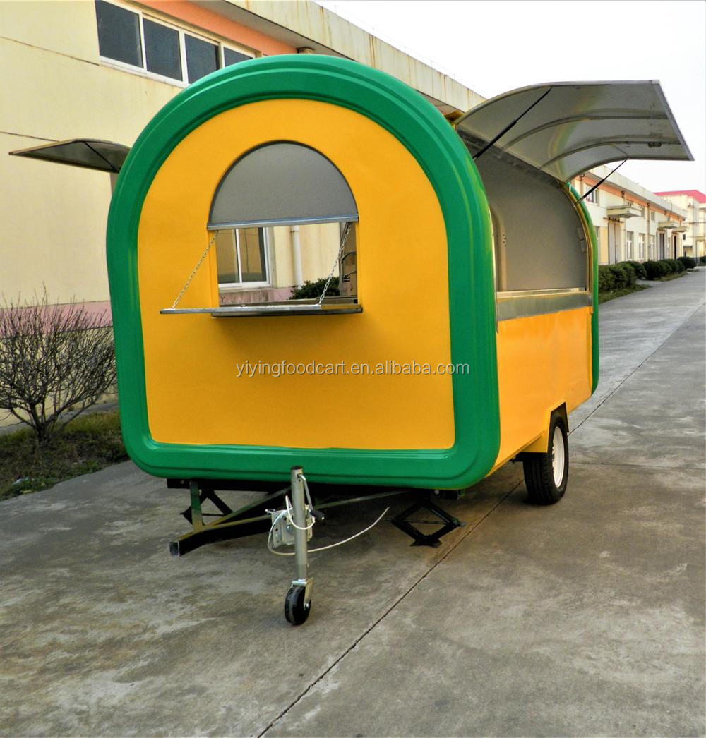 Yiying 2017 Roasted Chicken Kiosk Mobile Fast Food Cart Trailer