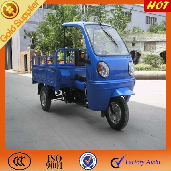 China tricycle for scooter on sale with semi cabin & ABS canopy