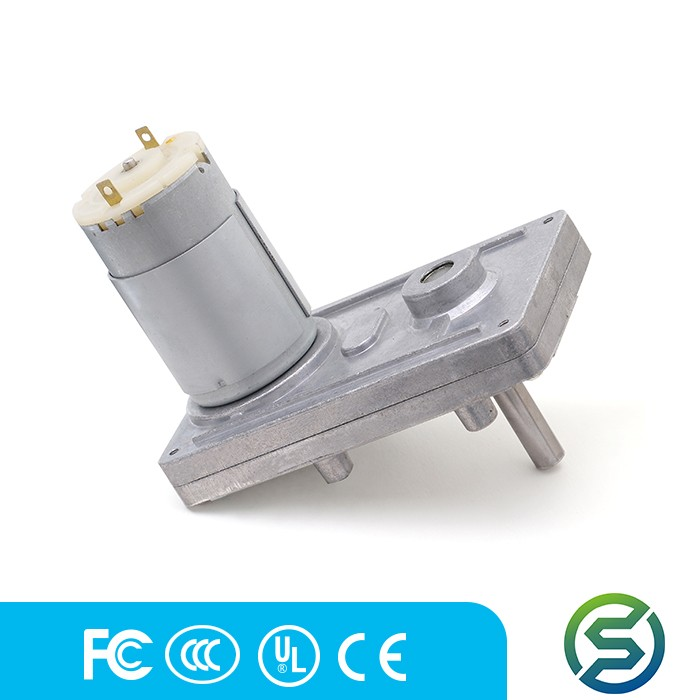 Low Price 12v 24v dc right angle gearbox motor for vacuum stable performance manufacturer