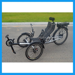 two front wheel recumbent e trikes
