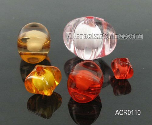 Acrylic colorful faceted beads in beads popular top sales