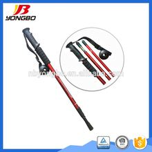 GS/TUV Approved 3-section telescopic trekking pole/walking cane/hiking pole with cork+EVA grip,easy lock system