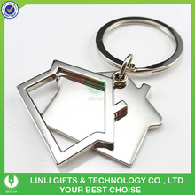 Advertising gift house shape zinc alloy key chain