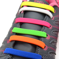 China Supplier Wholesale Shoe Laces Made of High Quality Flexible Silicone Rubber Shoe Laces