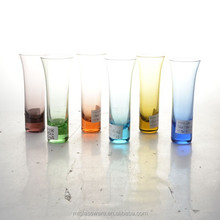Bottoms up 6piece Rainbow Vodka Glass Set Assorted Color 2.5oz