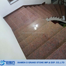 G562 Maple Red Spiral Folding Granite Stairs
