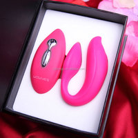 Wireless bluetooth romantic bullet vibrator dildo for couple