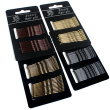High quality black metal bobby pins with glue head factory price metal fancy bobby pins wholesale