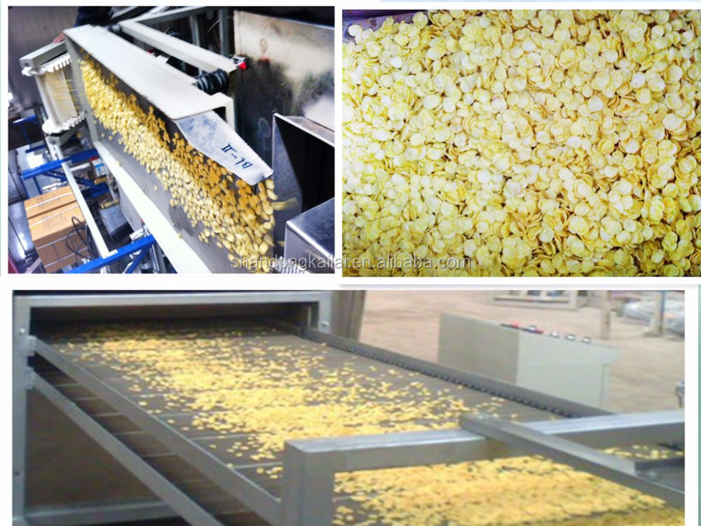 CEChina High Quality Extruded Crispy Sweet Corn Flakes Snack Machine