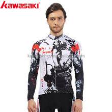 Kawasaki high quality breathable tight fit lycra thermal transfer printing cycling wear