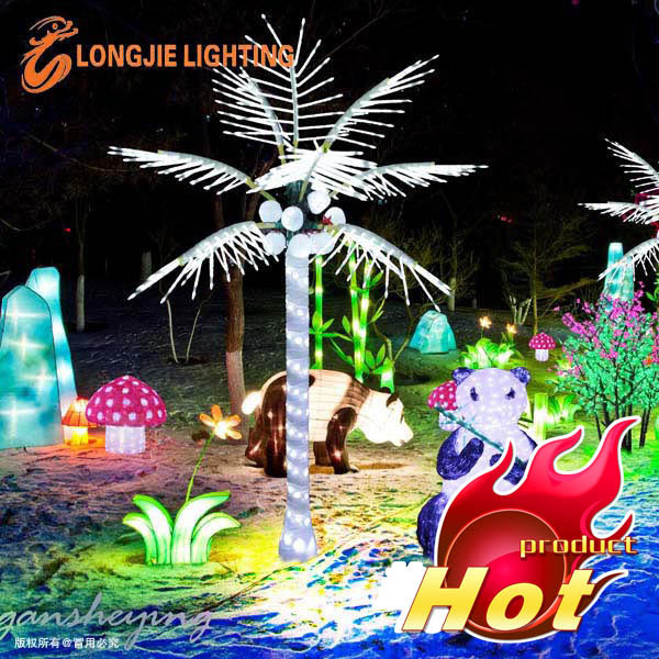 10 leaves 3m high simulation white coconut tree lamp,led coconut palm tree light