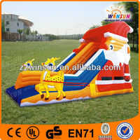 Commercial Christmas Inflatable Single Lane Slip and Slide Wet Dry Bounce House