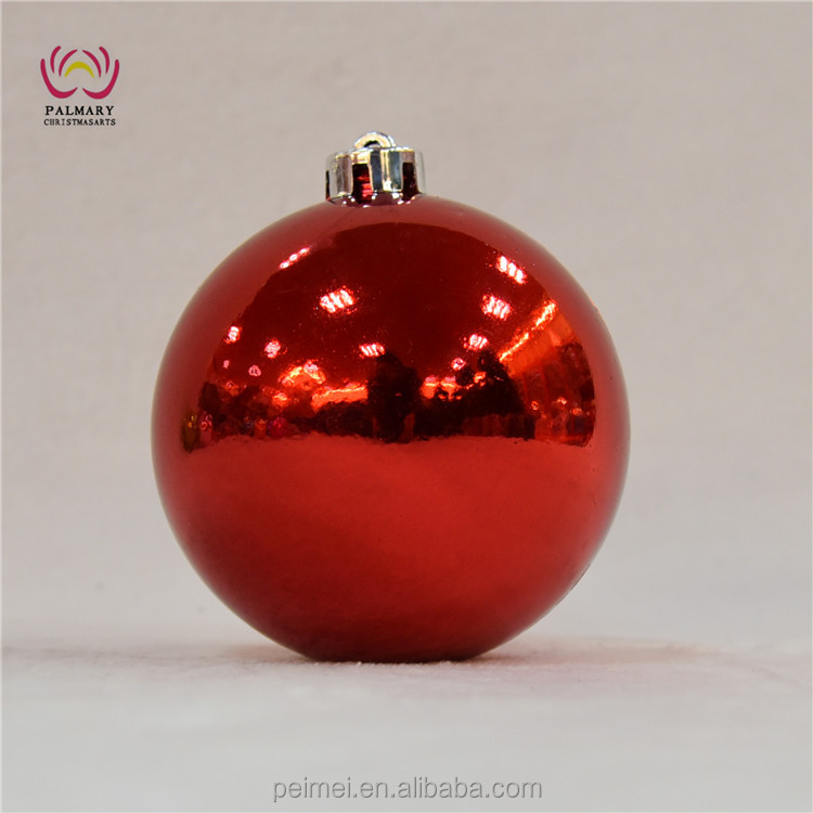 red shiny Christmas ornaments, big tree decoration ornament, cheap chirstmas ball ornament