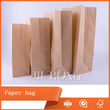 cheap brown food packaging kraft Bread paper bag