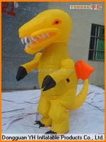 cheap oxford inflatable walking dinosaur costume, cartoon mascot