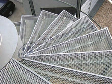 low carbon steel stair step grating expanded metal mesh