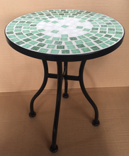 Round mosaic tile top flower plant stand for garden patio furniture