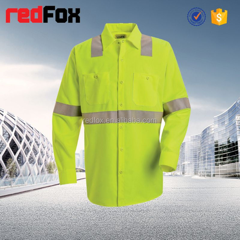 protective workwear 100% cotton twill reflective tape workwear trousers cvc fire preventionworkwear fabric