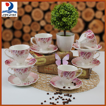 High quality wholesale cheap price ceramic tea cup set with saucer