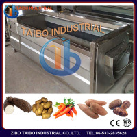 high efficency root vegetable and fruits peeling machine,potato/lotus root/taro washing and peeling machine