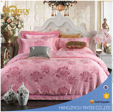Alibaba China supplier bed sheet embroidery design 100% cotton reactive jacquard king size duvet cover sets
