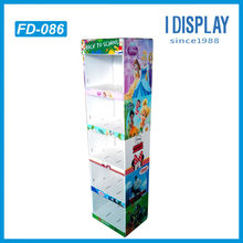 5 layers cardboard floor standing stationery display for back to school