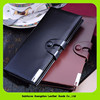16951 Long style Luxury bifold mens pure leather wallet 2014