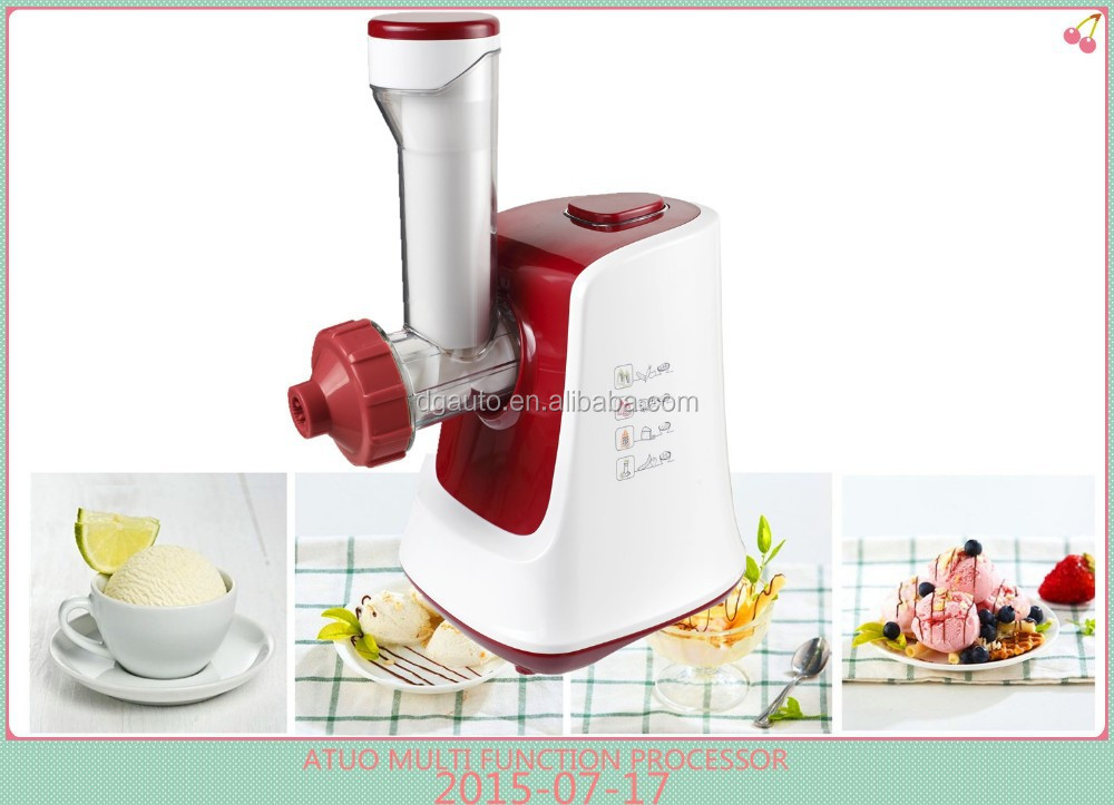 Pure natural and organic vegetable fruit ice cream machine multi function salad maker optional