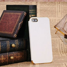 Luxury Chrome Leather Skin Case Cover For smart phone