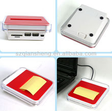 multifunctional card reader notes usb hub