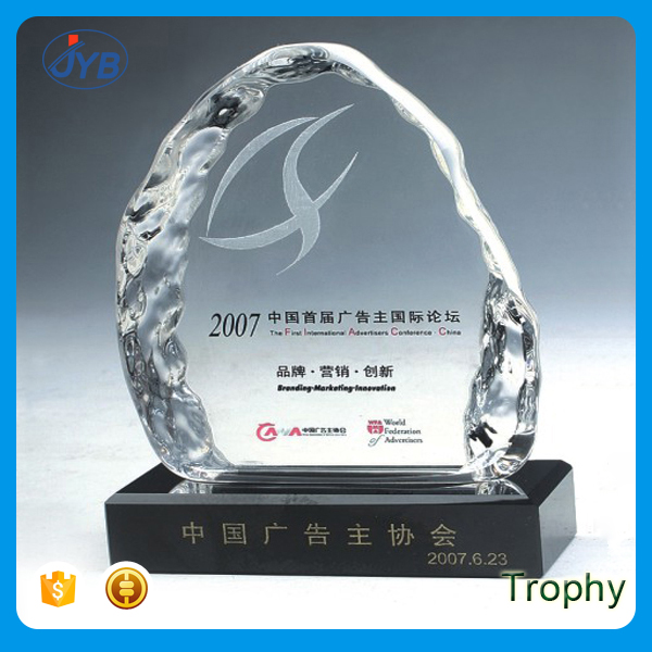 fancy design cheap price crystal trophy glass awards wholesale