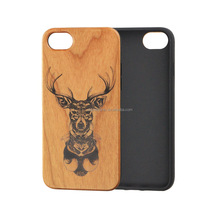 Cherry Wood Cell Phone Case for IPhone 5 Fashionable Print Pattern Full TPU Bumper Cover Case,mobile accessories